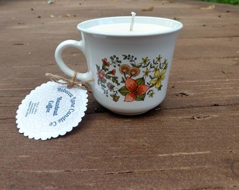 Hazelnut Coffee - Soy Wax Tea Cup Candle