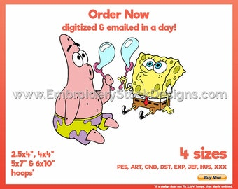SpongeBob SquarePants 11 - Pop Culture Cartoon Embroidery Design - 4 sizes Embroidery
