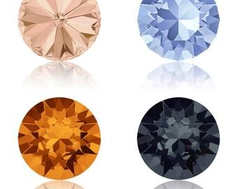 5, 10 or 20 rhinestones - Crystal Swarovski SS39 (1088) - light peach (beige), graphite (grey), light sapphire (blue) - tangerine