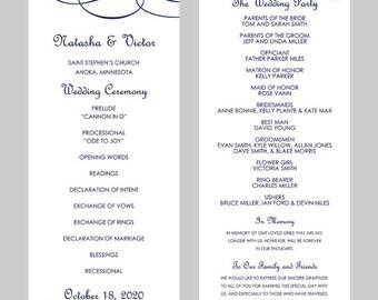 free wedding program template downloads word