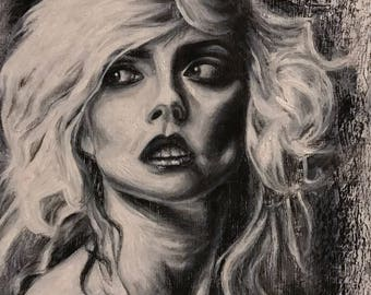 Debbie Harry / Blondie Charcoal Drawing