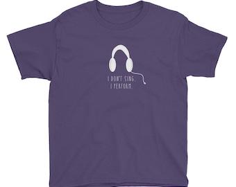 Sing and Perform - Kids Tshirt
