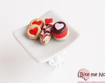 Valentine Assorted Desserts Ring, Mini Desserts Ring, Cookies Ring, Mini Pastries Ring, Mini Food Ring, Valentine Ring, Kawaii Ring, Love