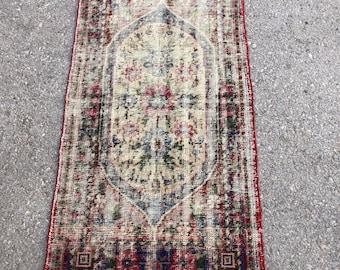 """55"""" x 30"""" , oushak rug , vintage rug , small rug, turkish rug, area rug , small kilim ,"""