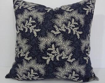 Designer Pillow Cover, Covington Fabrics, Throw Pillow Cover, Navy Blue, Blue, 18 x 18, Cushion Cover