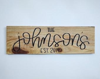 Last Name Wood Sign
