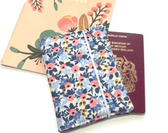 Passport Cover Rifle Paper Co, Travel Organizer, Travel Wallet, Passport Holder, Passport Wallet, Gift for Traveler, Rosa Periwinkle