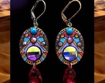 Handmade Swarovski Crystal Earrings