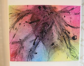 Flying Hair - Pop Art Contemporary Acrylic Painting, Pop Art Gesicht zeitgenössisches Acryl-Gemälde