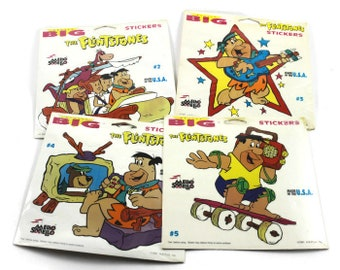 The Flintstones Really Big Stickers Mello Smello Collectible Hanna Barbera Cartoons