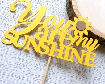 You Are My Sunshine Cupcake Toppers, Sunflower Baby Shower, Sunflower Decor, Sunflower Bridal Shower, Table Decor, Sunflower Wedding