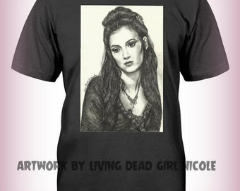 "Portrait T-Shirt : ""Absinthe Makes the Heart Grow Fonder"" - Mina Harker Winona Ryder Bram Stoker's Dracula True Love Horror Movie"