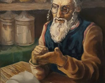 Old Jew Painting