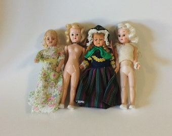 Vintage Plastic Storybook Sleepy Eye Doll Lot 1940's-1950's
