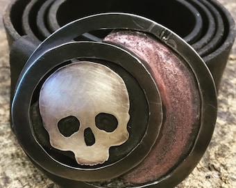 Eclipse Skull Belt Buckle