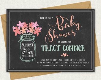Baby Shower Invitation //  Baby Shower Invite - Printable Template