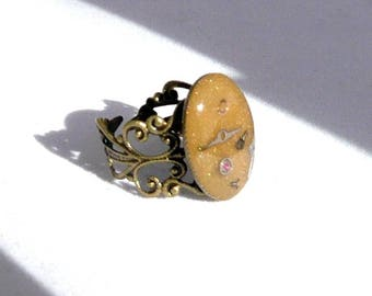 Gold steampunk ring