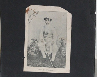 Vintage Photographs of The Rana of JUBBAL Indian Raja Photograph Collectible Piece Alume Photos.