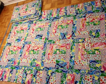"""Twin quilts   I don't want easy, I want crazy 72""""X90"""