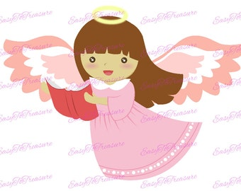 Digital Download Clipart - Angel, Christmas Angel , Angel 2 Singing JPEG and PNG files