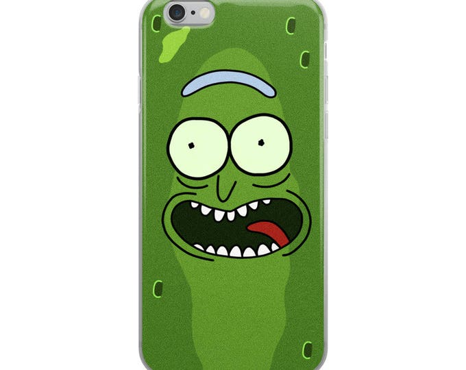 Featured listing image: Pickle Rick - Rick and Morty iPhone 5/5s/Se, 6/6s, 6/6s Plus Case