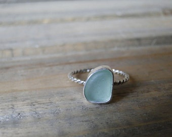 Custom Sea Glass Ring, Made to Order, Choose Your Own Sea Glass, Choose Your Style, Sterling Silver, Pick Your Own Sea Glass