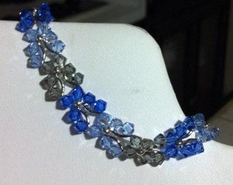 Blue Crystal Butterfly Bracelet