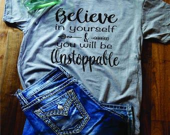 Gifts for her/Ladies shirt/Believe shirt/retro shirt/boho shirt/express yourself tee/Funny Shirt/ Country Shirt, Southern Shirt/Southern tee