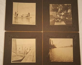 1906 Four Vintage Photographs from White Bear Lake Minnesota