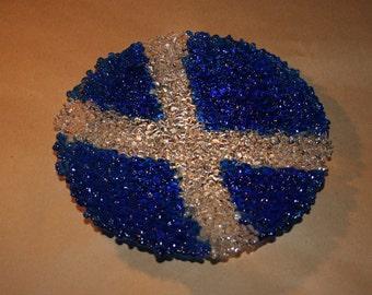Texturé sautoir Ecossais drapeau bol - réalisé sur commande