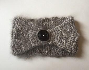Angora Ear Warmer Headband- Maple Bunny