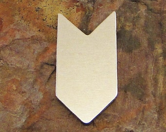 """5 Deburred 1 1/2"""" TALL CHEVRON *Choose Your Metal* Aluminum Brass Bronze Copper Nickel Silver Stamping Blanks Zigzag Tag ID Enameling"""