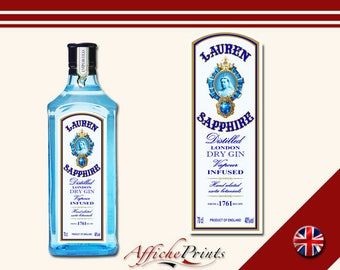 L2 Personalised London Dry Gin Bottle Label - Perfect Gift For Any Occasion!