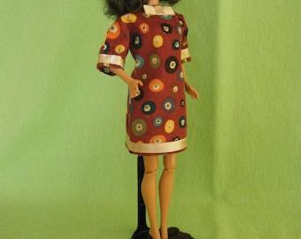 Barbie Sheath Dress, barbie dress, barbie clothes, barbie doll clothes, barbie doll dress, fashion doll clothes, fashion doll dress, barbie