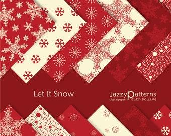 Let it Snow digital paper pack DP030 instant download