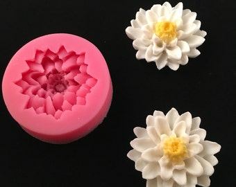 Silicone Water Lily Lotus Flower Mold