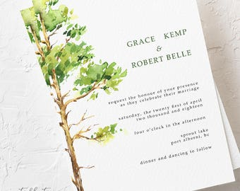 Forest Dreams - Wedding Invitations (Style 13777)