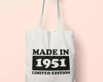 Made In 1951 Limited Edition Tote Bag Long Handles TB1714