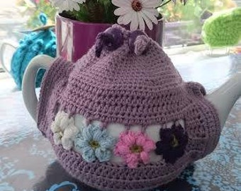 Summer Tea Cosy in Crochet with tea pot included