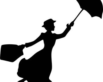 Vinyl sticker Mary Poppins