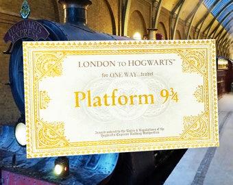 Billet plateforme 9 3/4 Harry Potter
