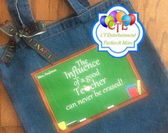 Teacher Gifts, Teacher Tote Bags, Denim Bag, Teacher of the Year, Teacher Appreciation Week