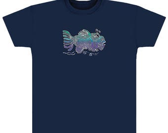 Jerry Garcia Art T-shirt- Fish- Jerry's Art on a 100% cotton heavyweight T-shirt.