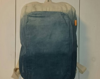 Backpack, dip dyed backpack, backpack of canvas