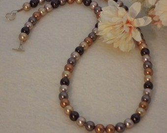 Swarovski Crystal Pearl Necklace In A Mixture Of Colors  FREE SHIPPING