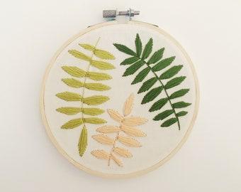 Fern Embroidery Hoop Art