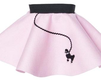 BABY/Infant (0-12 month) 50's POODLE SKIRT - Light pink