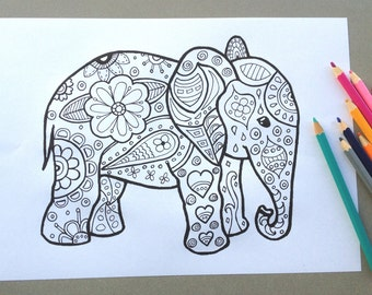 Mindfulness Coloring Pages Pdf : Instant download adult coloring page design colouring page
