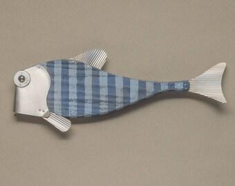 Flat Face Fish Wall Art Sculpture