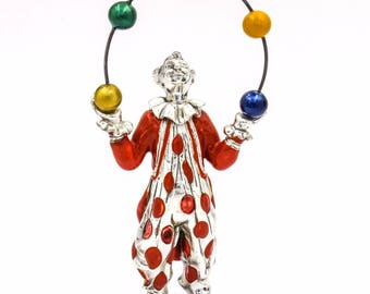 Tiffany & Co. Gene Moore Circus Juggling Clown Sterling Silver Figurine